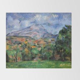 "Paul Cezanne ""Mont Sainte-Victoire"", c.1890 Throw Blanket"