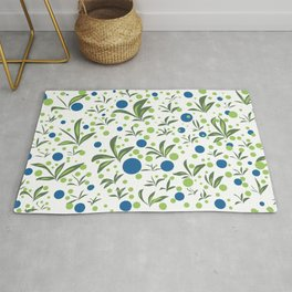 Leaves & Dots Pattern Rug