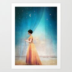 Night with a View Art Print
