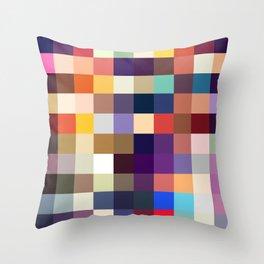 Kelpie - Multicolor Pixel Pattern Throw Pillow