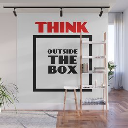 Think Outside The Box 2 Wall Mural