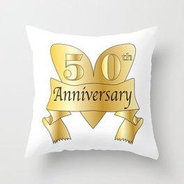 50th Anniversary Heart Throw Pillow