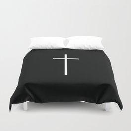 White cross Duvet Cover