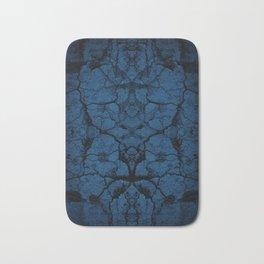 Blue cracked wall pattern Bath Mat