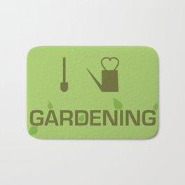 I heart Gardening Bath Mat