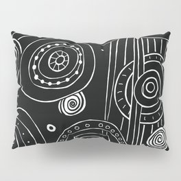Intergalactic - White on Black Pillow Sham