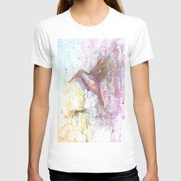 Hummingbird Watercolor Illustration T-shirt