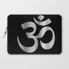 Aum Ohm om symbol in silver Laptop Sleeve