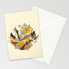 Chipmunk & Morning Glory Stationery Cards