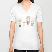 golden girls V-neck T-shirts featuring Girls in their Golden Years by Ricky Kwong
