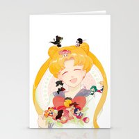sailor moon Stationery Cards featuring Sailor Moon by cezra
