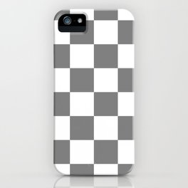 Large Checkered - White and Gray iPhone Case