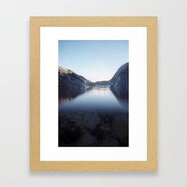Evening Rockpool Framed Art Print