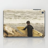 surfer iPad Cases featuring Surfer by Sam Cockayne