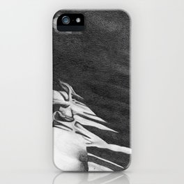 Graphite Abstract Drawing iPhone Case