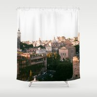 italy Shower Curtains featuring italy by paulina