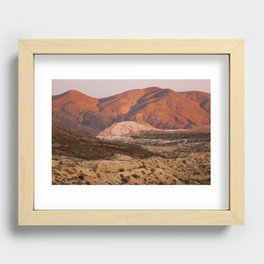 The Pinkest Sunset (Red Rock State Park, California) Recessed Framed Print