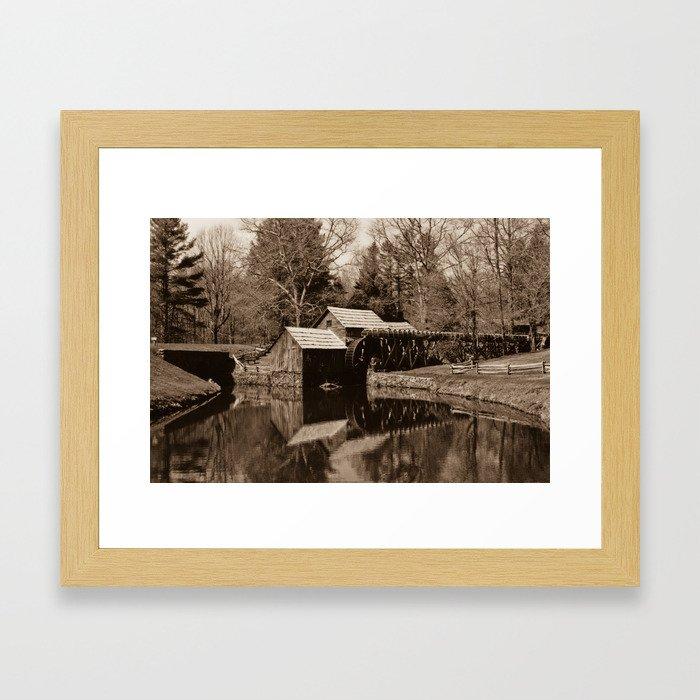 Mabry Mill (Sepia) Framed Art Print