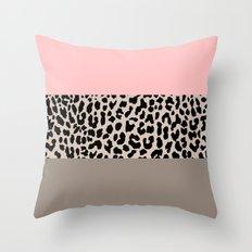 Leopard National Flag XVI Throw Pillow