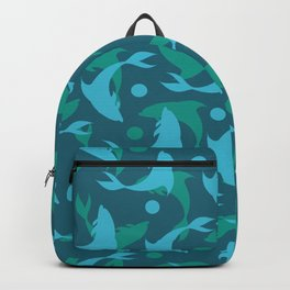 dolphins in blue Backpack