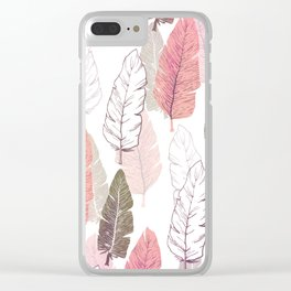 Watercolour Feathers Clear iPhone Case