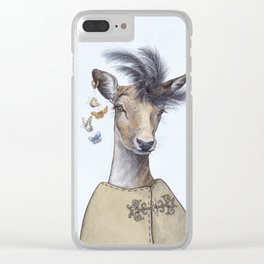 Fashion deer Clear iPhone Case