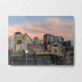 Roberto Clemente Bridge Pittsburgh Metal Print