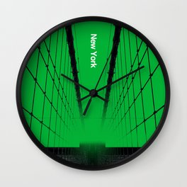 New York - Silent City Series  Wall Clock