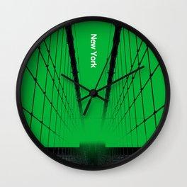 New York - Silent City Series  Wall Clock