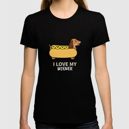 I Love My Weiner Dog - Dachshund Owner Gift T-shirt