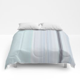 Mint Grey Vertical  Lines Comforters