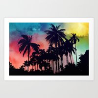 palm tree Art Prints featuring palm tree by mark ashkenazi