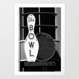 Bowl Tonight Art Print