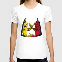 fries T-shirts featuring Fries wars by pludadesign