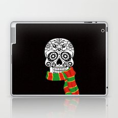 Funny skull with scarf Laptop & iPad Skin