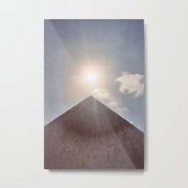 Sun and Pyramid Metal Print