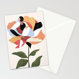 Flower (terracotta) Stationery Cards
