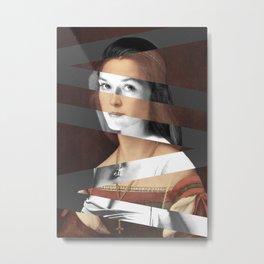 Raphael's Portrait of Woman & Meryl Streep Metal Print