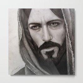 Portrait Drawing of Jesus Christ Metal Print