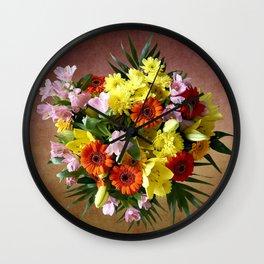 Bouquet Flowers Wall Clock