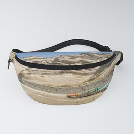 Vlichada beach in Santorini , Greece and blue sky Fanny Pack