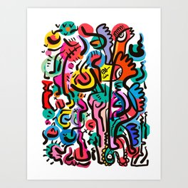 Sugar Pop Abstract Candy Creatures Graffiti by Emmanuel Signorino  Art Print