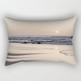 Pastel sunset at the beach | Waves of the Atlantic Ocean | Fine Art Travel Photography | Rectangular Pillow