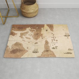 The Antlered Ship_Map Endpapers Rug