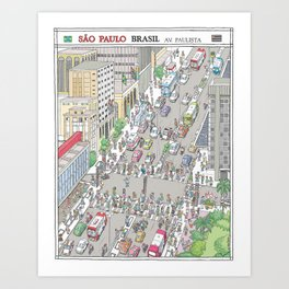 Avenida Paulista #1, Sao Paulo, Brazil Art Print