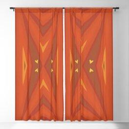 Flaming Accordion / Orange, Yellow &   Blackout Curtain