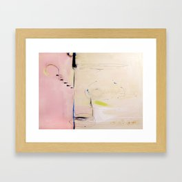 No. 04 Pink Abstract Painting  Framed Art Print