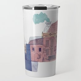 city collage Travel Mug
