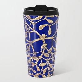 Mistletoe Blue Travel Mug