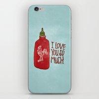 sriracha iPhone & iPod Skins featuring TRUE LOVE by Josh LaFayette